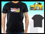 KOOLART CLASSIC BRITISH Design for Old School Ford Anglia 105e mens or ladyfit t-shirt